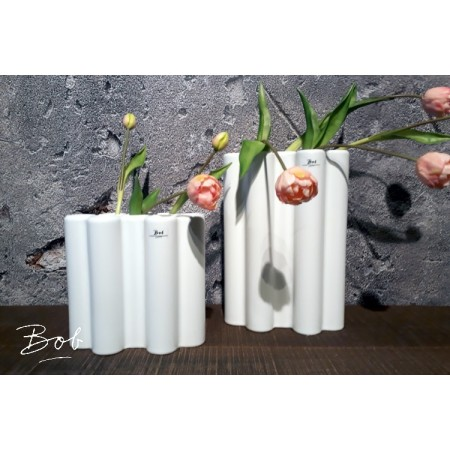 Bob Multi Barral Vase L Matt White