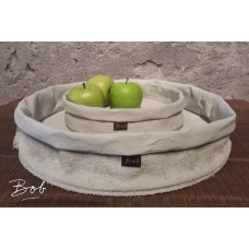 Bob Tray rubber / jute light grey 28 cm
