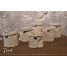 Bob Mixed pots rubber / jute 13 cm old rose