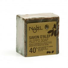 Aleppo zeep 40% BLO 200 g Najel - 12 stuks